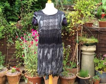 Vintage 1990sPost Punk Indie Urban  UK 12/14 US 8/10 EU 40/42  dress