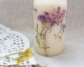 Floral candle Fall decor Dry Flower Candle Wedding party favor Wedding gift woman tealight candles Bridal shower gift Gift for her mom gift
