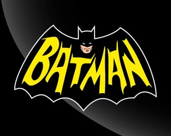 Vintage Batman vinyl decal 4 color