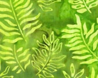 Fresh Water Java Batiks Lime Branch Batik Fabric by the Yard GALJABNDF6-0021