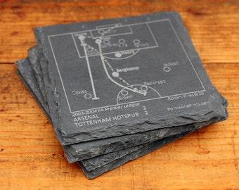 Arsenal Greatest Plays - Slate Coasters (Set of 4)