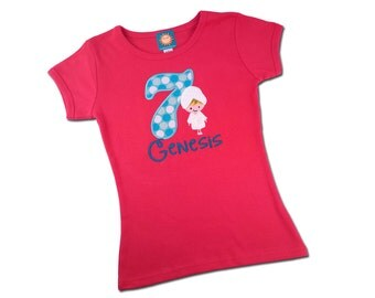Girl's Spa Birthday Shirt with Embroidered Name