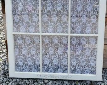 Lace backed Window