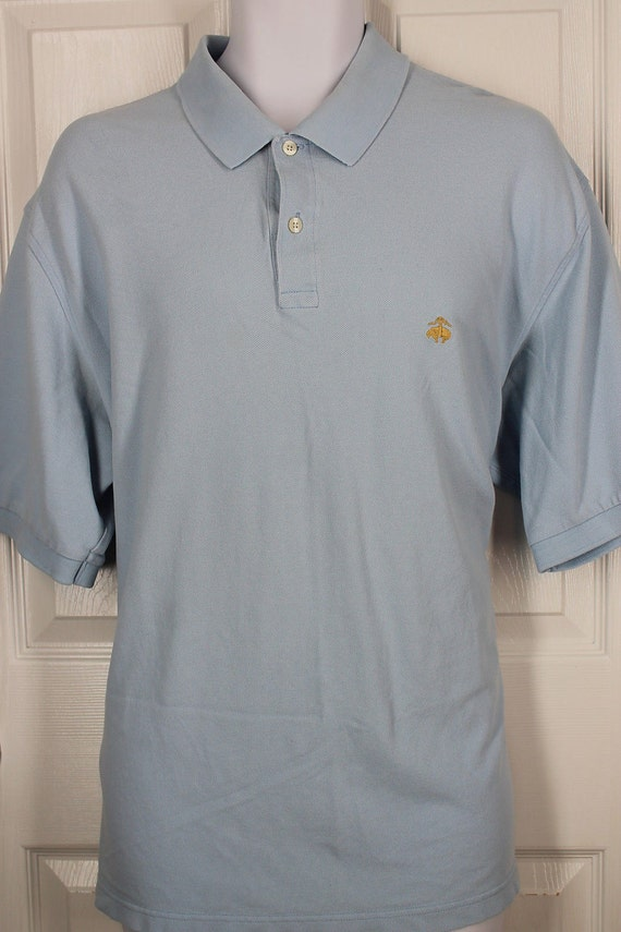Vintage Brooks Brothers 346 Blue 100 Cotton Polo Casual Shirt