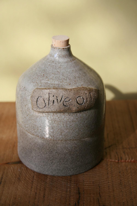 Ceramic Olive Oil Cruet Pottery Olive Oil Dispenser