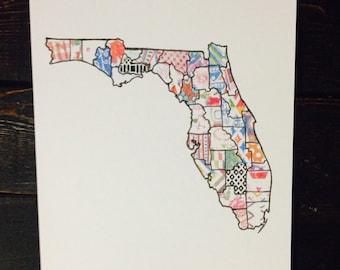 Patchwork Florida Art