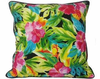 Tahitian Indoor Cushion Cover with Black Piping - 45 x 45cm