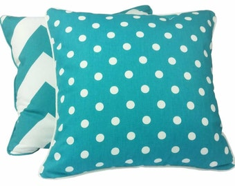 Turquoise Polka Dot Indoor Cushion Cover - 45 x 45cm