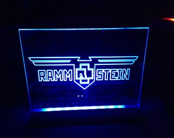 rammstein  light up sign   llumlinated
