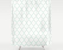 Unique mint shower curtain items