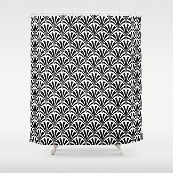 Shower Curtain Great Gatsby Art Deco Fabric Shower Curtain