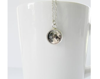 Tiny Moon Pendant on Sterling Silver Chain Friendship Gift Celestial Stargazer Gift Jewelry Necklace