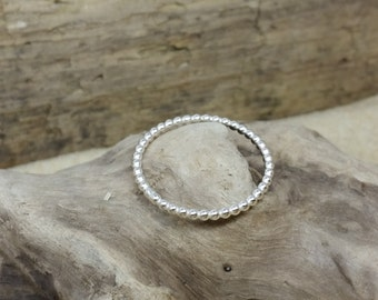 Handmade Sterling Silver Bead Stacking Ring