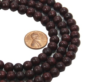 India Fine Quality Rosewood Beads Count of 50pcs