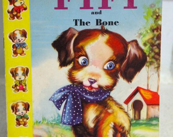 Vintage Little Castle Childrens Book-FIFI and the Bone
