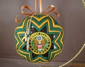 Handcrafted Quilted U. S. Army Ornament