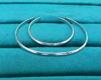 Mother Baby Bracelet set Sterling silver