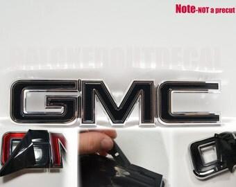 07-13 GMC Sierra - Yukon - Acadia Black Front Grill Emblem Overlay Kit