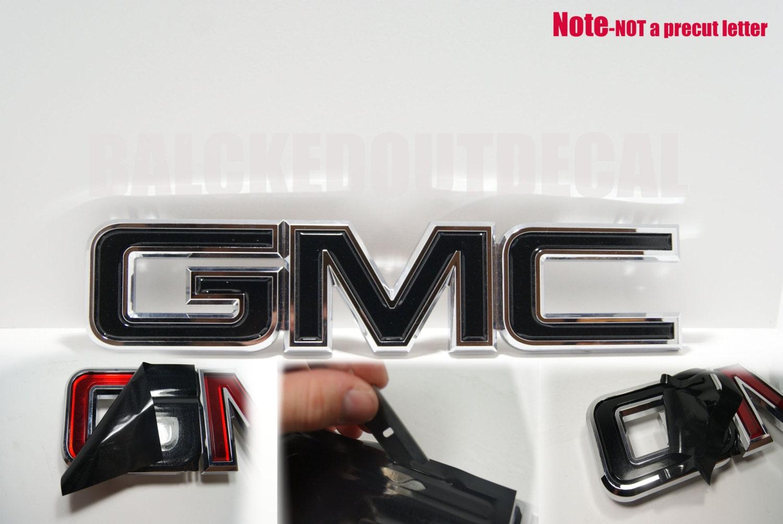 07-13 GMC Sierra Yukon Acadia Black Front Grill Emblem