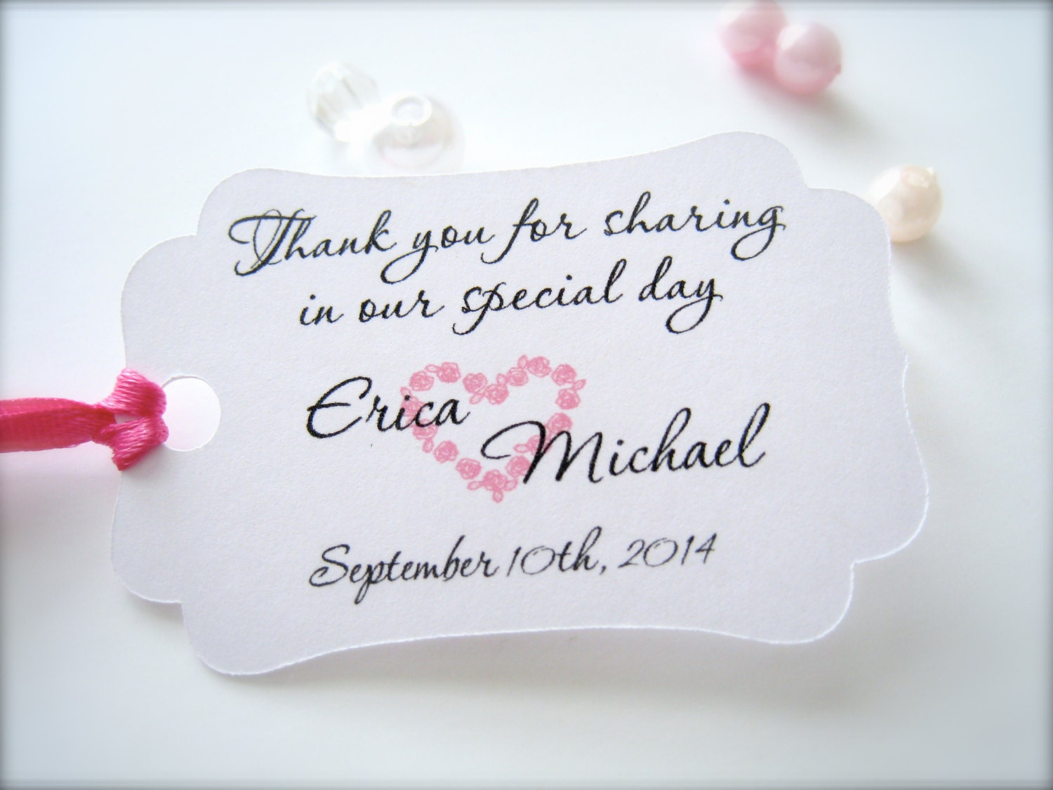 Small wedding favor tags personalized thank you tags party for Small tags for wedding favors