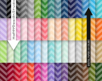 60 colors tinted chevron digital paper rainbow colors chevrons instant download colorful craft diy decorations card making pattern