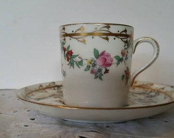 Aynsley England T.Goode & Co Coffee Can And Saucer