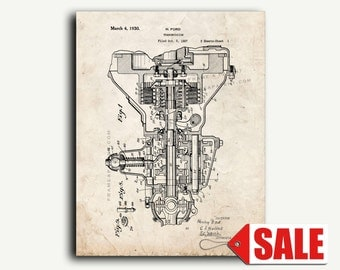Patent Print - Henry Ford Transmission Patent Wall Art Poster Print