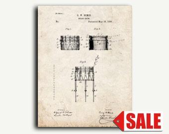 Patent Art Print - Snare Drum Patent Wall Art Poster Print