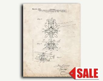 Patent Print - Aircraft Of The Direct Lift Amphiblan Patent Wall Art Poster