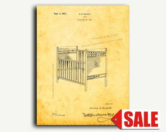 Patent Art - Design For A Crib Patent Wall Art Print