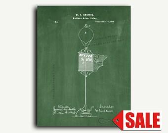 Patent Print - Balloon Advertising Patent Wall Art Poster