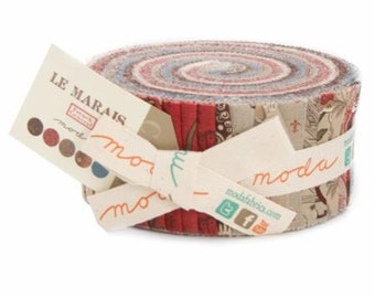 Le Marais by French General for Moda Fabrics.  Jelly Roll 13730JR