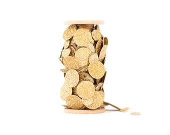 Gold Glitter Paper Garland