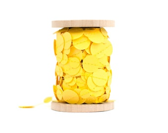 Bright Yellow Paper Garland