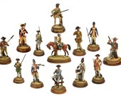 Royal Doulton Figurines Soldiers of the Revolution Complete Set of 13, Fine Porcelain