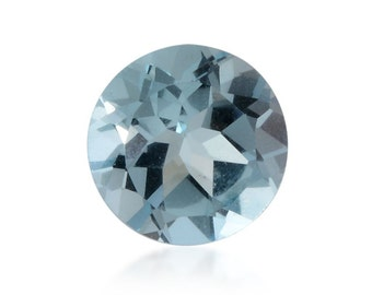 Sky Blue Topaz Round Cut Loose Gemstone 1A Quality 9mm TGW 2.80 cts.