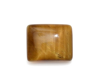South African Tigers Eye Loose Gemstone Baguette Cabochon 1A Quality 11x9mm TGW 3.30 cts.
