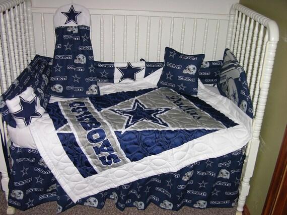 New Crib Nursery Bedding M W Dallas Cowboys Fabric