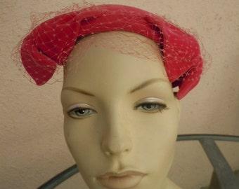 Gorgeous 1930s Pink Mohair Velvet Woman's Hat