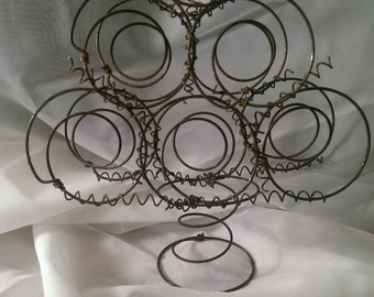 Metal Bed Spring Tree Repurposed Shabby Cottage Chic Rustic Elegance