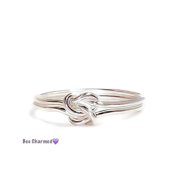 knot ring sterling silver promise ring by
