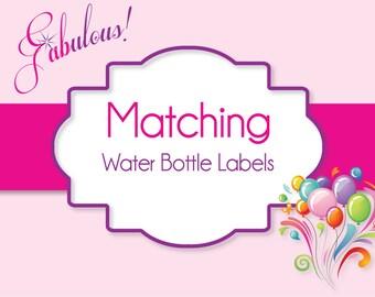 DIY Water Bottle Label Printables