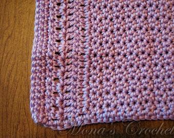 Hand Crocheted Purple Peruvian Cotton Square Spa Cloth | Face Cloth | Washcloth | Crochet Washcloth | Crochet Bath Cloth