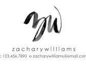CUSTOM LOGO - Modern Minimalist Logo, Brush Lettering Black, handlettered logo, calligraphy logo,photographer small business, blogger logo