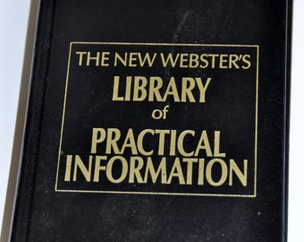 Old Dictionary. The New Webster's Library of Practical Information. Webster's. Websters.Dictionary. English Teacher Gift.English Dictionary.