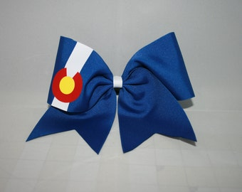 STATE Cheerleading Bows and keychains (Colorado, Michigan, Texas, Wyoming)