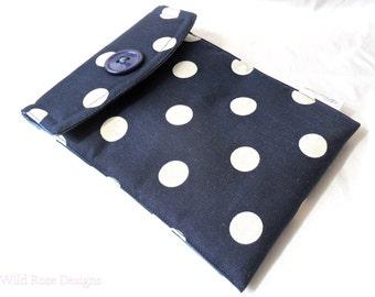 Navy iPad mini case. iPad mini sleeve. Gadget case.