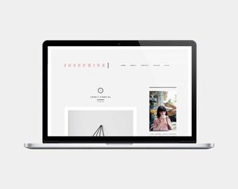 Premade Blogger Template | Josephine
