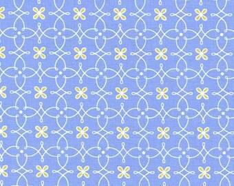 Helen's Garden Parterre in Blue by Tamara Kate for Michael Miller Fabrics 2084