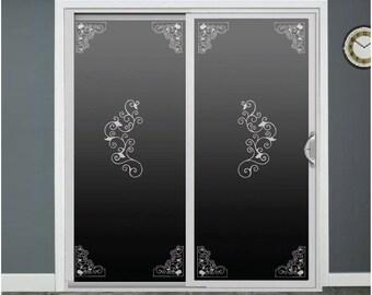 Vines Glass Door Decals Sliding Door Decal Door Stickers Window Decals